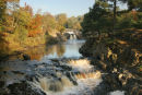 07-3797 Low Force Waterfall in Autumn River Tees Teesdale County Durham